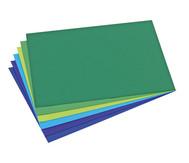 Schulset Tonpapier, Set 2, Blau- und Grüntöne