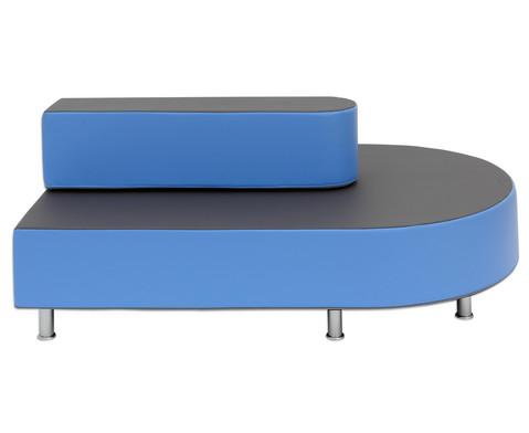 Betzold Relax-Terminal-Sofa Rechteck halbrund mit Lehne