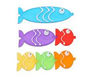 Transparente Steck-Fische