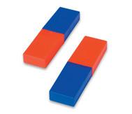 Satz mit 2 Stabmagneten in Kunststoffhülle