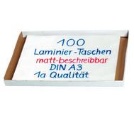 Karton mit 100 Compra Laminiertaschen matt, DIN A3, 250 mic