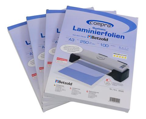 Karton mit 100 Compra Laminiertaschen matt DIN A3 250 mic-3