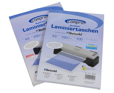 Karton mit 100 Compra Laminiertaschen matt DIN A3 250 mic-4