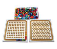 Perlenbrett mit 240 Holzkugeln