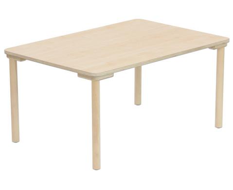 Rechteck-Tisch 80 cm breit Hoehe 25 cm