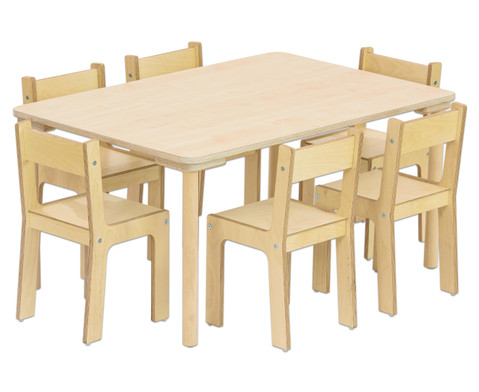 Rechteck-Tisch 80 cm breit Hoehe 40 cm-2
