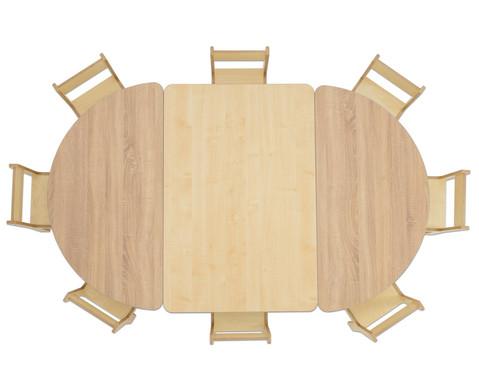 Rechteck-Tisch 80 cm breit Hoehe 46 cm-3