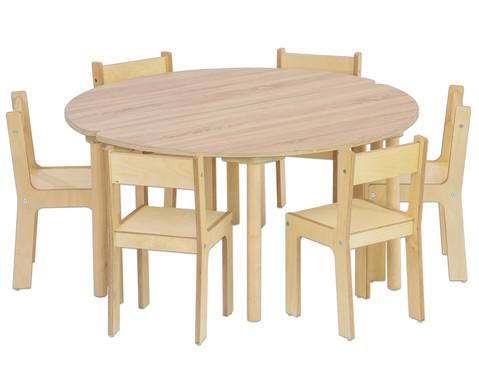 Tisch halbrund Hoehe 40 cm-2