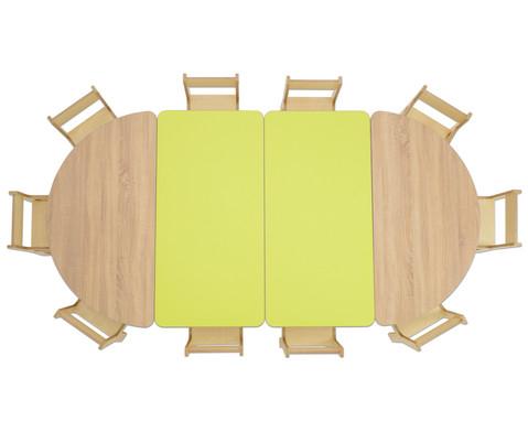 Tisch halbrund Hoehe 40 cm-3