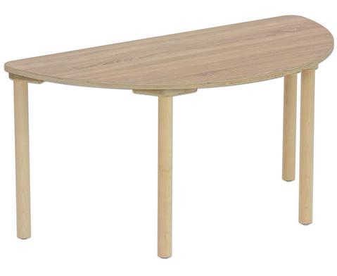 Tisch halbrund Hoehe 46 cm