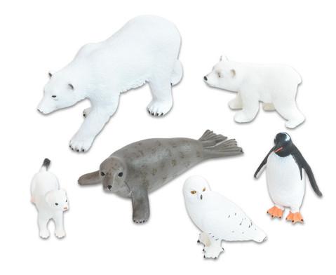 Arktische Tiere 6-tlg Set