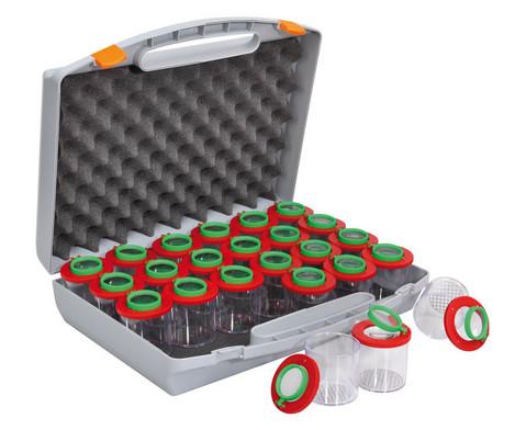 Klassensatz 24 Dosenlupen im Kunststoffkoffer