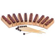Satz mit 10 Sopran-Klangbausteinen und 10 Schlägeln