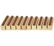 Satz mit 10 Bass-Klangbausteinen und 10 Schlägeln