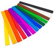Krepppapier in verschiedenen Farben, je 10 Rollen