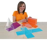 Geometrische Körper aus Plexiglas