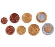 Euro Münzen, sortiert im Beutel