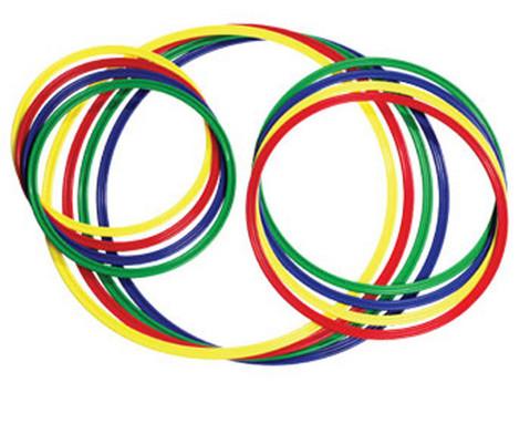 Gymnastik-Reifen 4 Stueck bunt