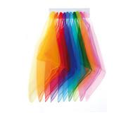 10 Chiffon-Tücher in 10 Farben