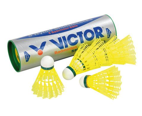 6 gelbe Badminton-Baelle