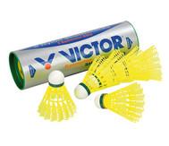 6 gelbe Badminton-Bälle