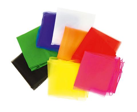 5 Jongliertuecher 65 x 65 cm in einer Farbe