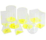 10-teiliger Satz geometrische Füllkörper im Kunststoffkoffer
