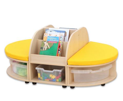 Maddox Sitzkombination 2 gelbe Sitzmatten