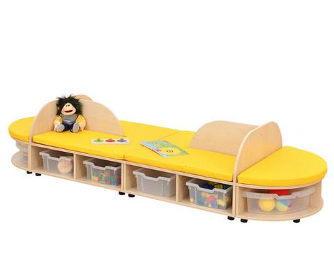 Maddox Sitzkombination 4 gelbe Sitzmatten