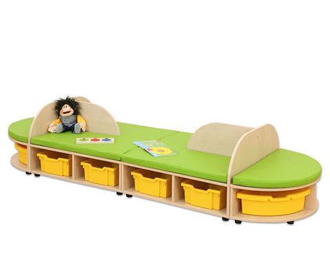 Maddox Sitzkombination 4 gruene Sitzmatten