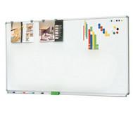Langwandtafeln als Whiteboard mit Ablage