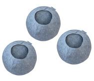 Materialtasche rund, 3-er Set