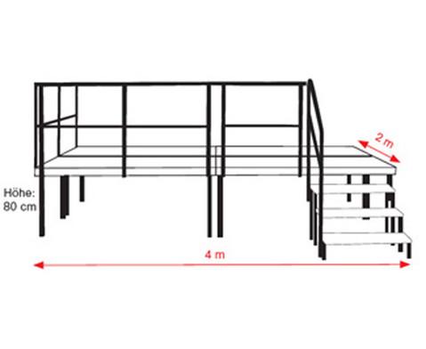 Komplettset Schulbuehne fuer Aussenbereich Siebdruckplatte wetterfest