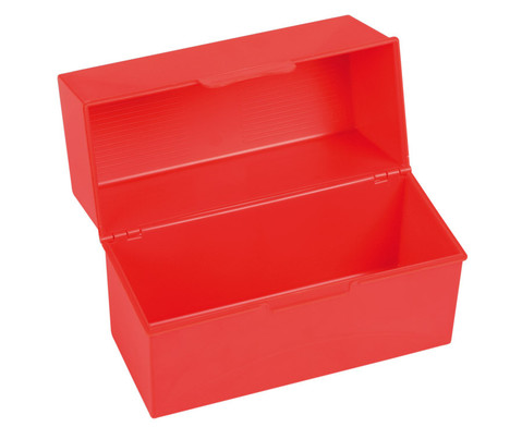 Karteiboxen DIN A5 in Rot oder Blau
