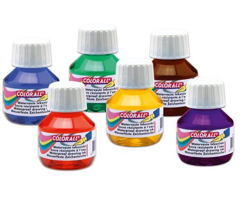 AquaTint-Zeichentusche Einzelfarben
