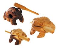 Frosch-Guiros mit Schlägel