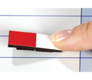 Lehrermagnet 10 x 30 mm halb farbig/halb weiss