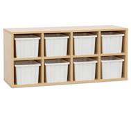 Garderoben-Hängeregale CHIPPO, mit weissen Boxen