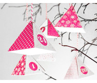 Adventskalender-Bastelset rot/ weiß