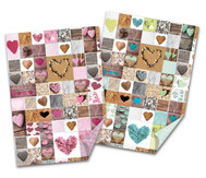 Fotokarton Herzen, verschiedene Farben