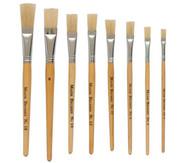 Borstenpinsel mit kurzem Stiel, 10 Stück