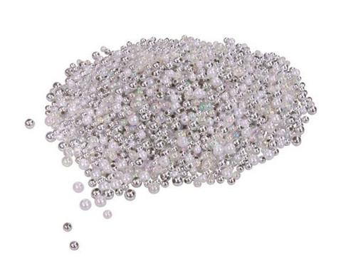 Metallicperlen-Set Silber-Toene-1