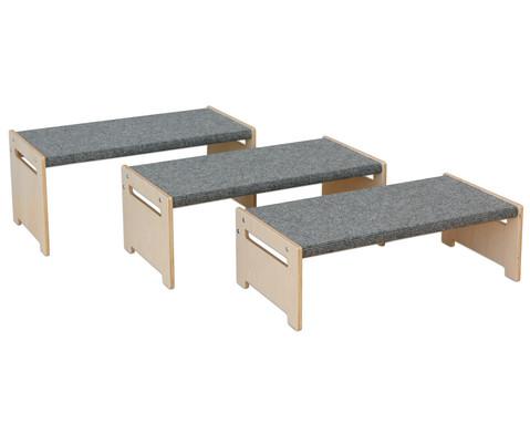 EduCasa Rechteckbank mit Teppich