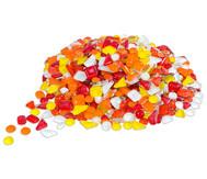 Mosaiksteine Softglas gelb-rot, 200g