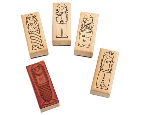 Holzstempel Was ist los Maedchen und Jungs 5-teilig-1
