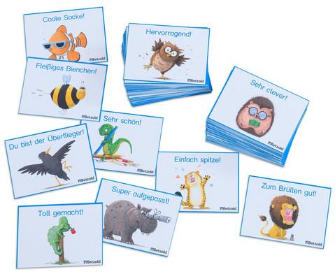Motivationskarten Lustige Tiere 110 Stueck im Etui