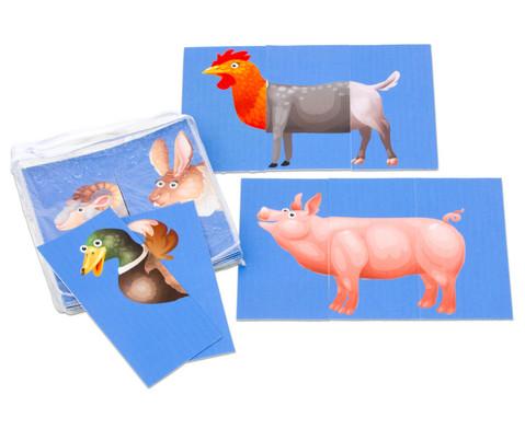 Zuordnungsspiel Bauernhoftiere-2
