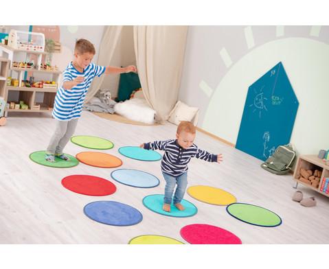 Teppichset Bunte Kreise 6 Stueck-2