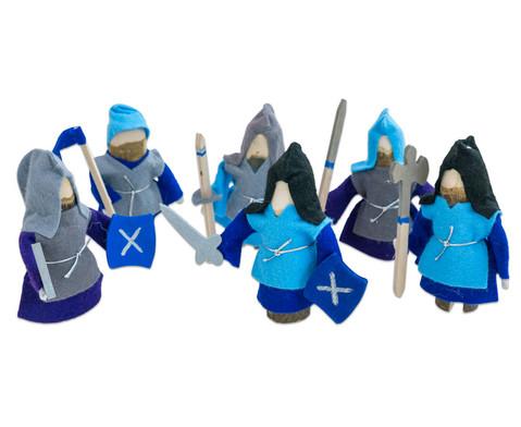 Ritter 6er-Set blau