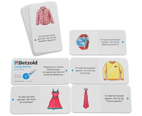Tellimero Lesespiel Kleidung